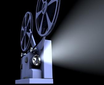 Os projetores de cinema são basicamente semelhantes aos projetores de slides