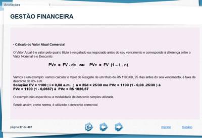Curso Gestão Financeira