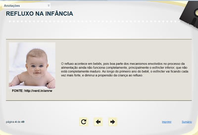 Curso Refluxo na Infância