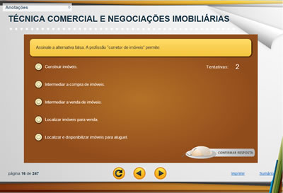 Curso Técnica Comercial e Negociações Imobiliárias