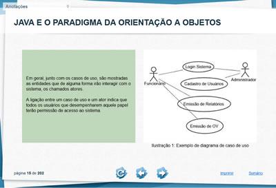 Curso Java e o paradigma da Orientação a objetos