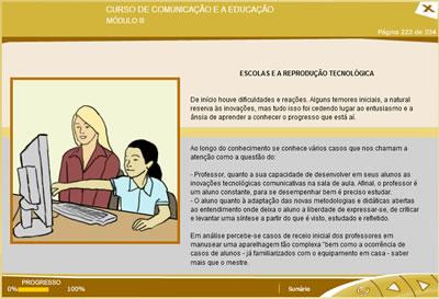 Curso Comunicação e a Educação
