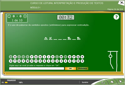 Curso Leitura, Interpretação e Produção de Textos
