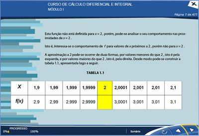 Curso Cálculo Diferencial e Integral I