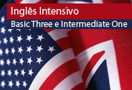 Curso Online de Inglês Intensivo -  Níveis Basic Three e Intermediate One