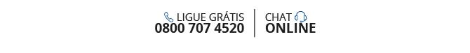 Ligue grátis 0800 707 4520. Chat Online.