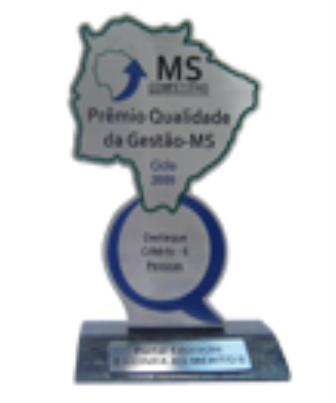 2009 - Pr&#234;mio Qualidade da Gest&#227;o MS PQG/MS  - Destaque no crit&#233;rio 6 - pessoas