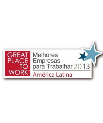 2013 - 50 Melhores Empresas para Trabalhar da América Latina - Great Place to Work