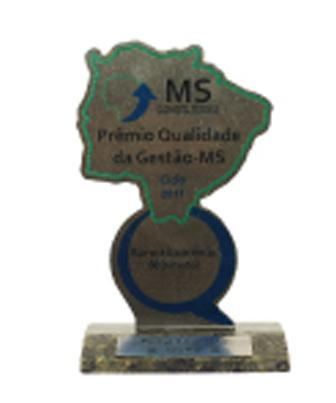 2011 - Prêmio Qualidade da Gestão - Categoria Ouro -PQG/MS