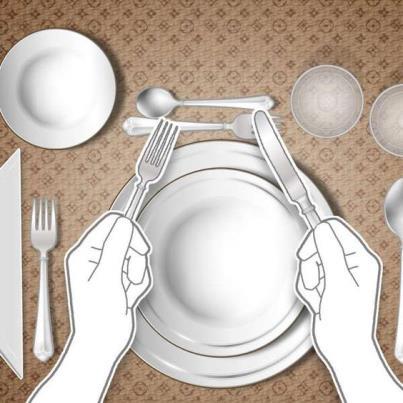 Boas maneiras à mesa