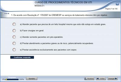Curso Procedimentos Técnicos em UTI