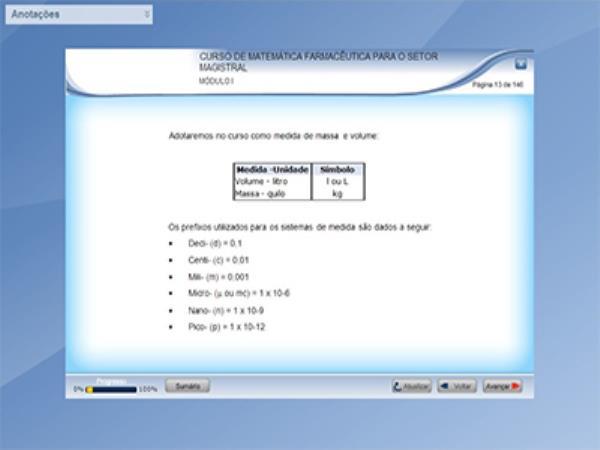 Curso Matemática Farmacêutica para o Setor Magistral